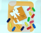 Marzipan Jelly Babies Baby Shower Retro Sweets Foodie Gift Party Present Cake Topper