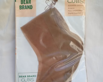 Bear Brand 'Cubs' 30 denier full fashioned nylon stockings size 10 1/2