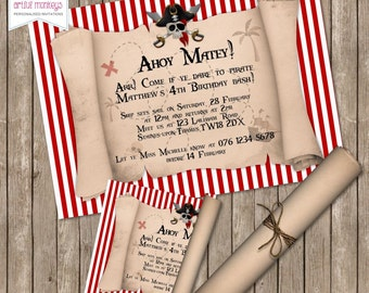 Printable Pirate Party Invitation | Personalized