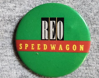 80s Rock! pinback button 1980s REO SPEEDWAGON Button