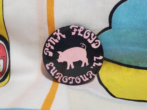 """1977 Pink Floyd Eurotour 2.25"""" badge pin F176"""