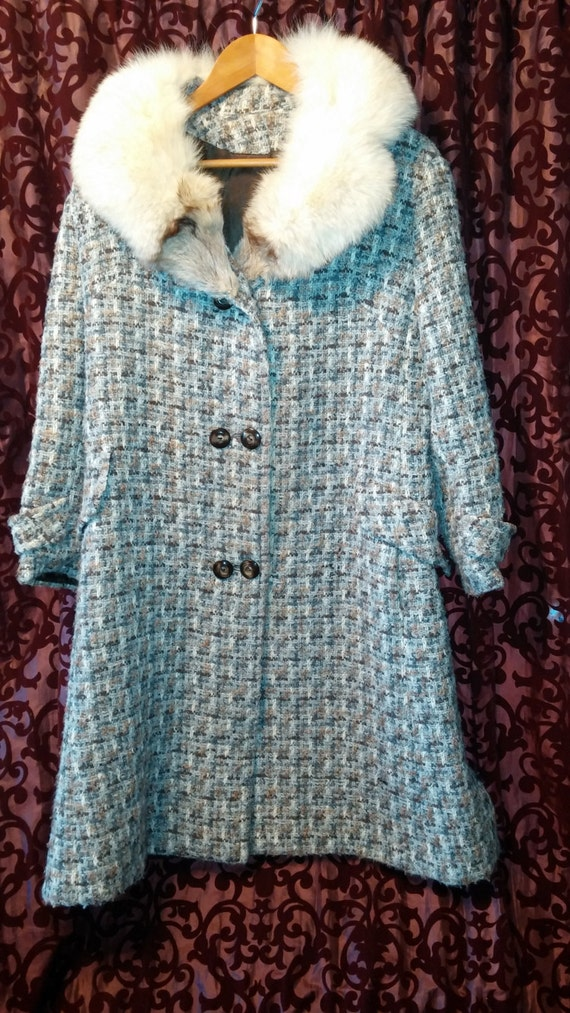50's Style Wool Winter Double-breasted Princess D… - image 2