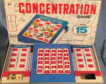 Concentration  Board Game New 15th Edition Milton Bradley 4950 Vintage 1959