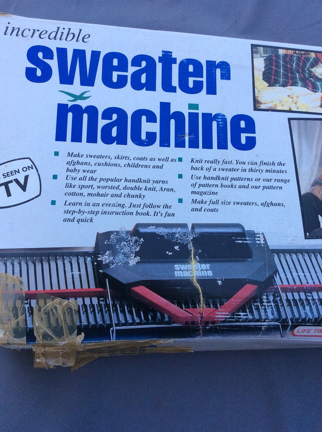 Incredible Sweater Machine by Bond-Knitting Machine from ApexAnnex ...