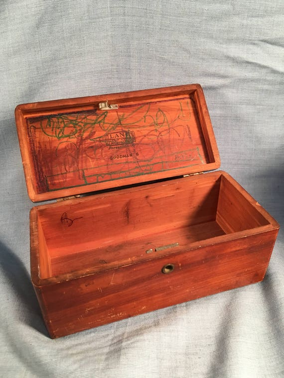 Vintage Lane Cedar Chest Larson Furniture Wood Trinket Box   Etsy