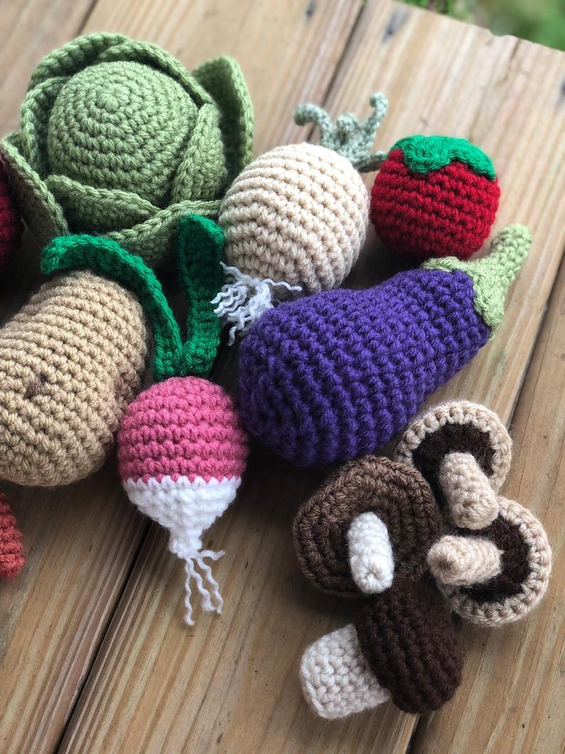 Crochet vegetables toys