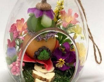 Flower Fairy Garden Terrarium