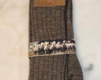 Men's Baby Alpaca, Merino Wool, Nylon Socks