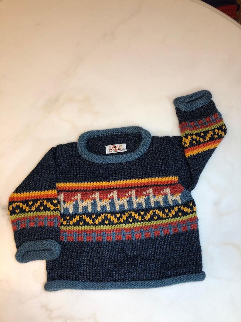 Mini Alpaca Cotton Roll-Neck Sweater