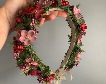 Flower Crown, Flower Halo, Flower Crown,  Floral Crown, Toddler Flower Crown, BOHO Flower Crown, Flower Girl Crown, Baby Crown, Christmas