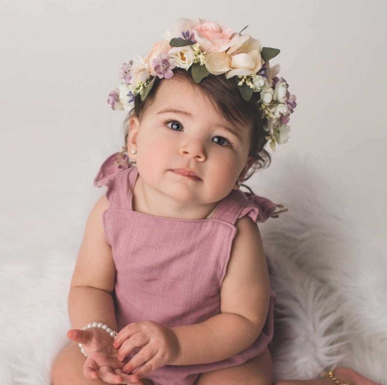 f1b50335338 Tieback Flower Crown
