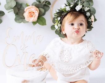 Flower Crown, Newborn Crown, Flower Halo, Baby Flower Crown, Floral Halo, Flower Girl Crown, Ivory and Greenery Flower Crown, Bridal Halo