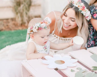 Mommy and Me Flower Crown set,  Halo Crown, Baby Halo Flower Crown, Baby Flower Crown, Mommy and Me Flower Crown, Mommy and Me, Customizable