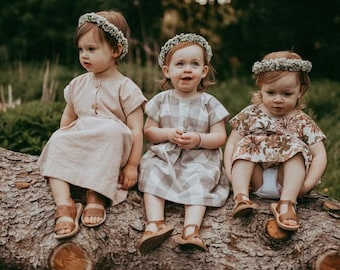 Flower Crown, Newborn Crown, Flower Crown Halo, Baby Flower Crown, Floral Halo, Flower Girl Crown, Baby's Breath Flower Crown, White Crown