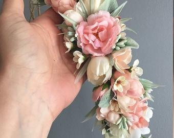 Flower Crown, Toddler Flower Crown, Newborn Flower Crown, Tieback Flower Crown, Birthday Crown, Baby Flower Crown, Flower Girl Crown