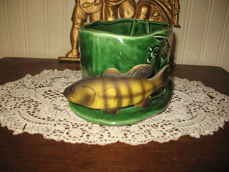 planter. Little trout fishing Hat planter rub ens originals japan vase