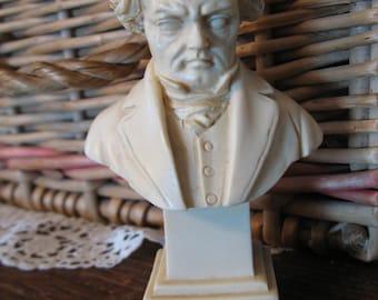Bust of Ludwig van Beethoven. Sculpture G Ruggeri Italy.