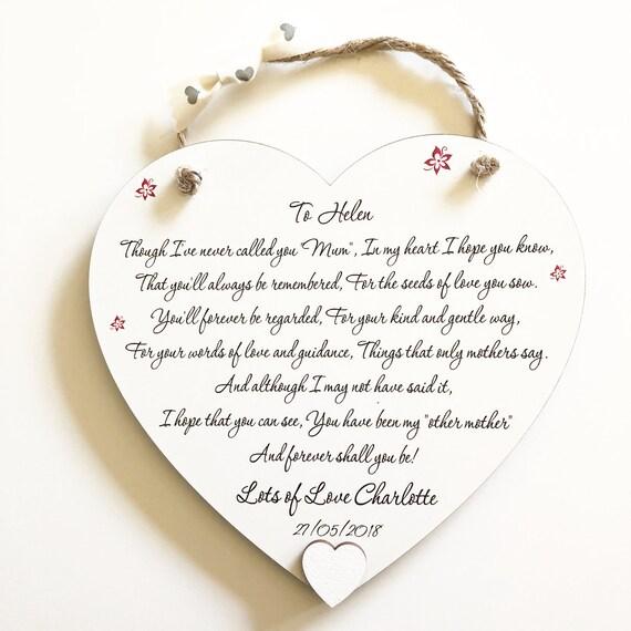 cadeau de maman sp cial belle m re merci mariage coeur carte etsy. Black Bedroom Furniture Sets. Home Design Ideas