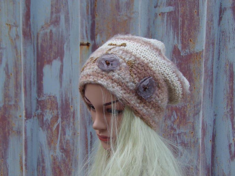 Chunky Knit Hat Oversized Beanie Mohair /& Wool Slouchy Hat Oversized Slouch Hat Knit Beanie Slouch Beanie Hat Goth Hat Grunge Beanie