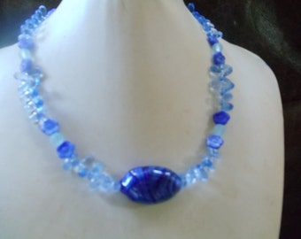 Melly statement jewelry Neclaces blue
