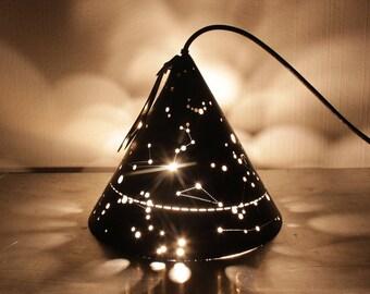 Leather portable lamp - Loba