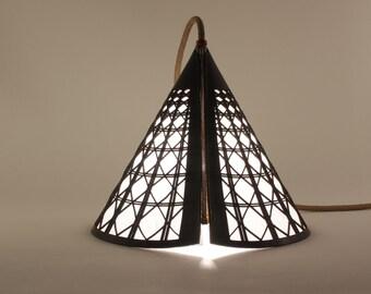 Leather portable lamp - Essam