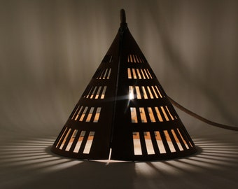 Leather portable lamp - Joang