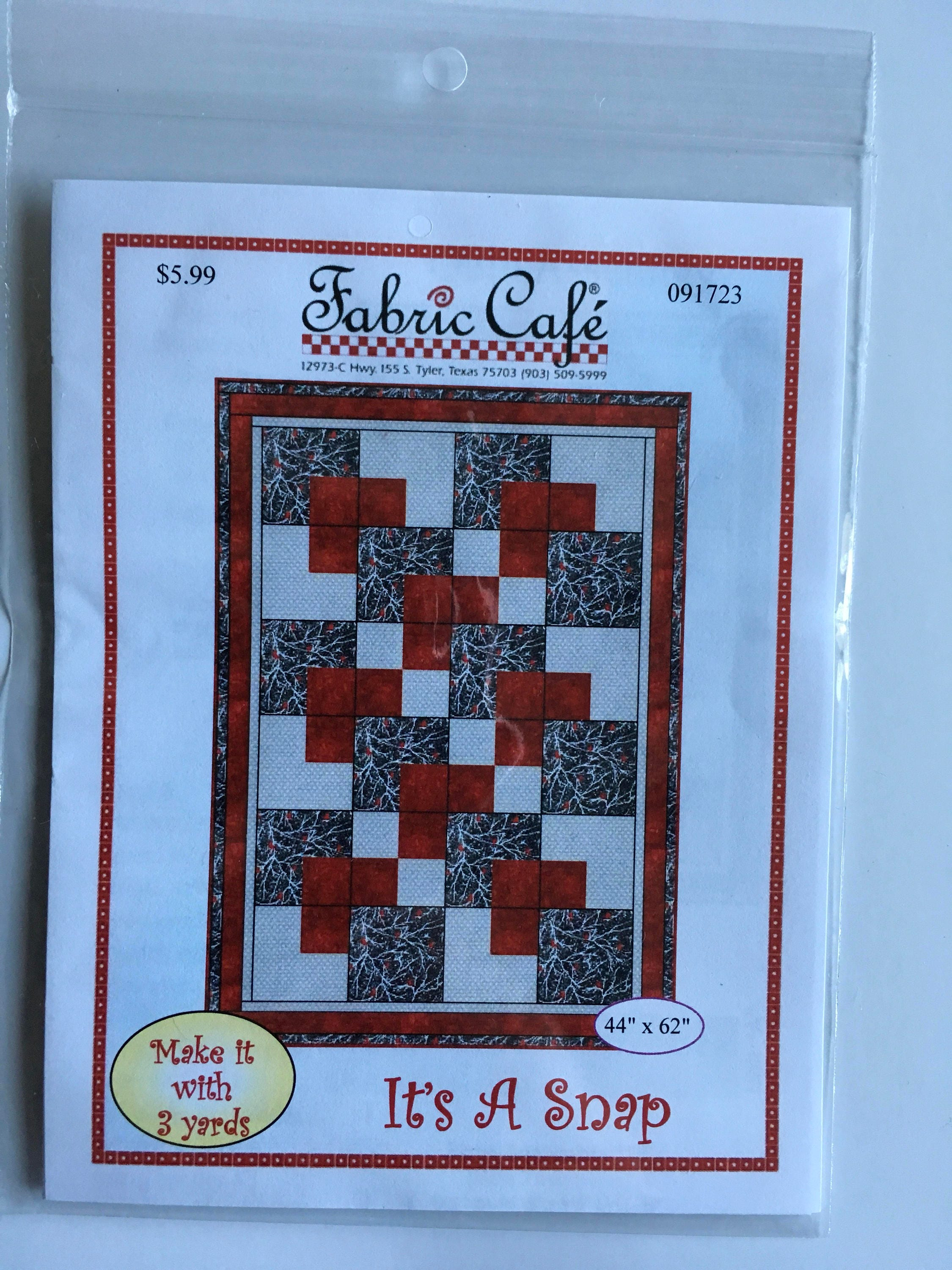 Its A Snap 3 Yard Quilt Pattern Fabric Cafe