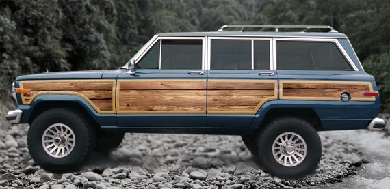 Jeep Grand Wagoneer >> Jeep Grand Wagoneer Replacement Wood Grain Vinyl Kit Decals Cut To Fit