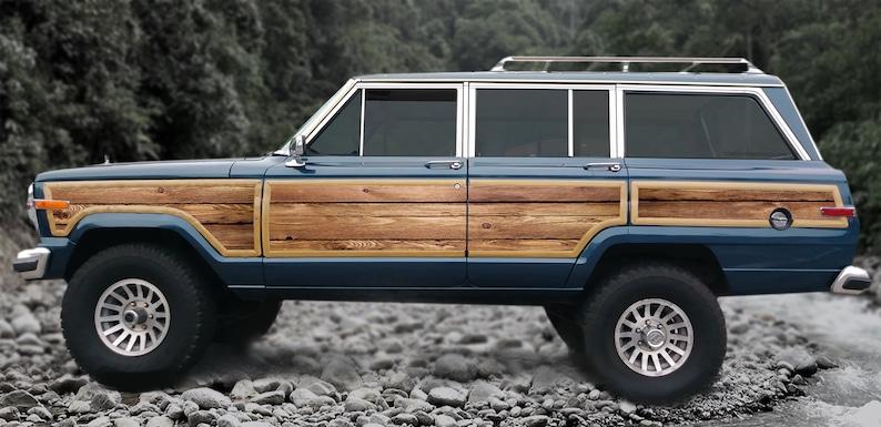 Jeep Grand Wagoneer Replacement Wood Grain Vinyl Kit Decals Etsy