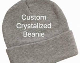 Custom Crystalized Beanie