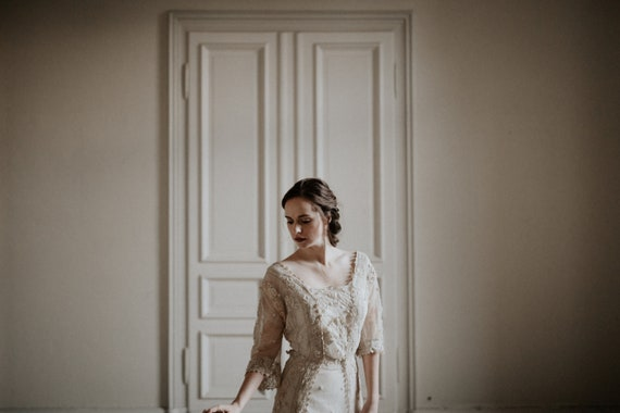 Antique Edwardian Tea Dress Wedding Dress Oriental
