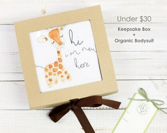 Baby Giraffe Theme - Keepsake Gift Box