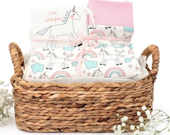 Magical Unicorn Theme - Organic Baby Gift Bundle