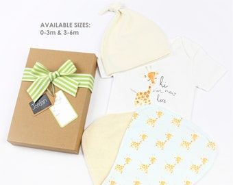 Baby Giraffe Blue - Welcome Gift Set
