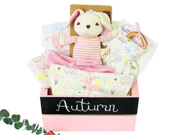 Just Bloomed Theme - Personalized Baby Girl Organic Gift Bundle