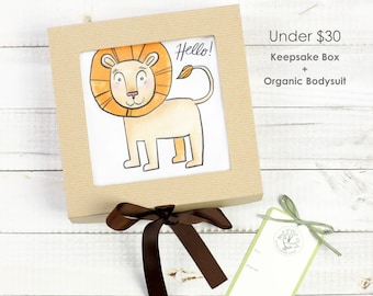 Friendly Lion Theme - Keepsake Gift Box