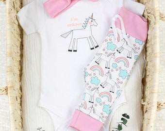 Unicorn Theme - Organic Baby Apparel