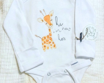 Newborn Baby Onesie®, Organic Baby Clothes, Gender Neutral Baby Clothes, Hi I'm New Here Onesie®, Newborn Baby Clothes, Coming Home Baby