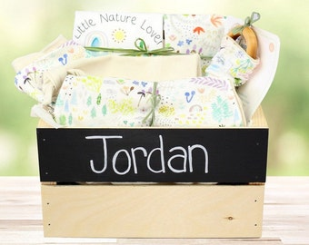 Little Nature Lover Theme - Personalized Organic Baby Gift Bundle