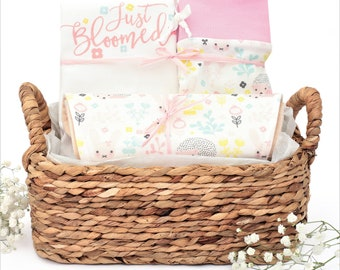 Just Bloomed Theme - Organic Baby Girl Gift Bundle