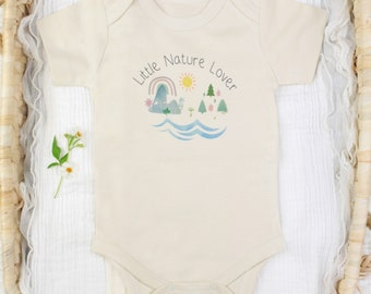 """Earth Day """"Little Nature Lover"""" - Organic Baby Bodysuit"""