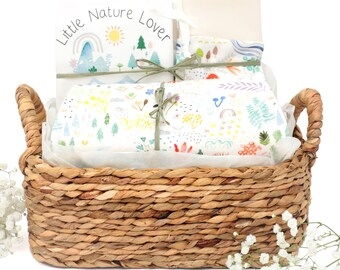 Little Nature Lover Theme - Personalized Baby Organic Gift Bundle