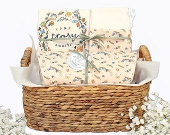Your Story Awaits Theme - Organic Baby Girl Gift Bundle