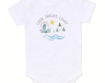 "Earth Day ""Little Nature Lover"" - Organic Baby Bodysuit"