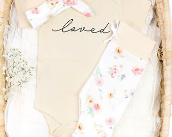 Watercolor Floral Theme - Organic Baby Apparel
