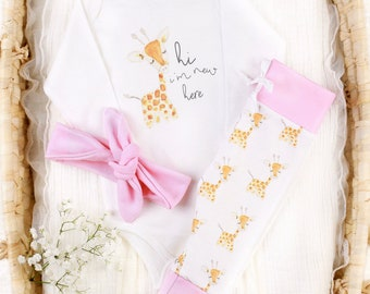 Baby Girl Giraffe Theme - Organic Baby Apparel
