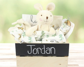 Woodland Friends Theme - Personalized Organic Baby Gift Bundle