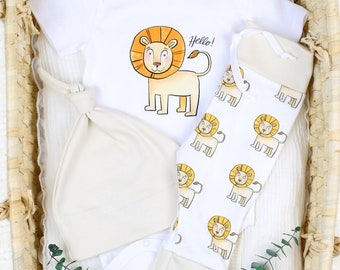 Safari Lion Theme - Organic Baby Apparel