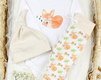 Sleepy Fox Theme - Organic Baby Apparel